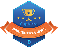 Capterra top ratings and best review badge for salon software
